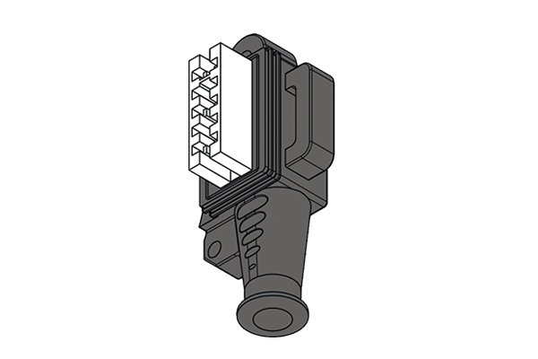 Connector for compact actuators Bitron-Elbi